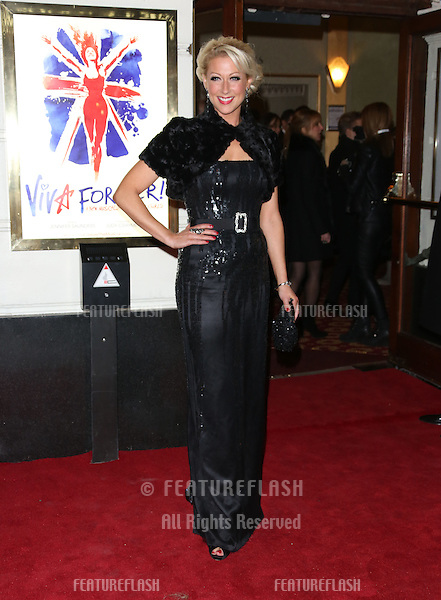 Faye Tozer arriving for VIVA Forever Spice Girls the Musical held at the Piccadilly Theatre. 11/12/2012 Picture by: Henry Harris / Featureflash