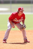 St. Louis Cardinals minor league player Alan Ahmady #32 during a spring training game vs the New York Mets at the Roger Dean Sports Complex in Jupiter, Florida;  March 24, 2011.  Photo By Mike Janes/Four Seam Images