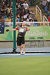 RIO DE JANEIRO - 8/9/2016:  Kevin Strybosch competes in the Men's Discus Throw - F37 Final in the Olympic Stadium during the Rio 2016 Paralympic Games. (Photo by Matthew Murnaghan/Canadian Paralympic Committee