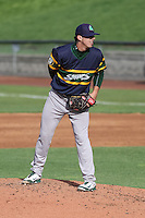 Beloit Snappers pitcher Heath Fillmyer (26) on the mound during a Midwest League game against the Wisconsin Timber Rattlers on May 30th, 2015 at Fox Cities Stadium in Appleton, Wisconsin. Wisconsin defeated Beloit 5-3 in the completion of a game originally started on May 29th before being suspended by rain with the score tied 3-3 in the sixth inning. (Brad Krause/Four Seam Images)