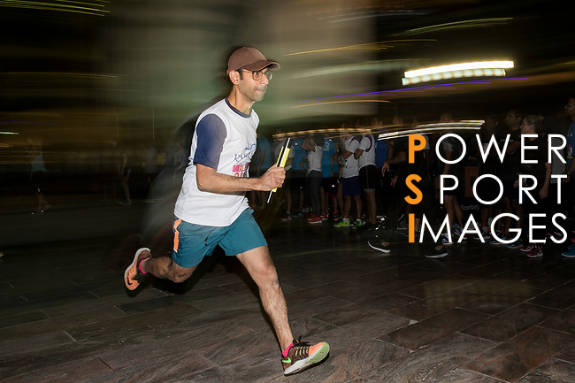 Bloomberg Square Mile Relay race across the Dubai International Financial Centre on 07 February 2018 in Dubai, United Arab Emirates. Photo by Ian Walton / Power Sport Images