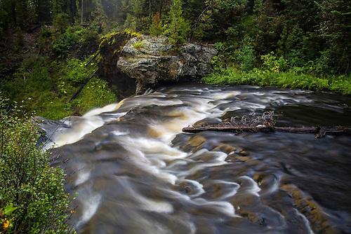 The brink of Moose Falls at Yellowstone National Park, Wyoming