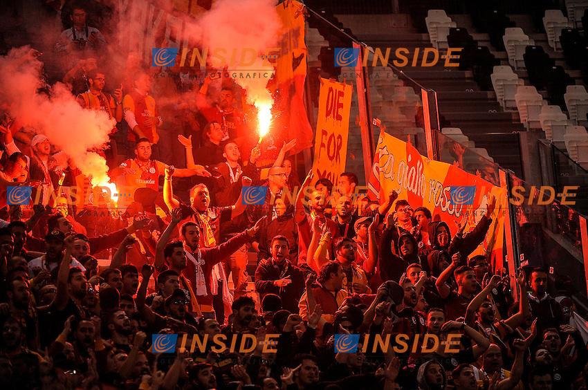 Tifosi Galatasaray  <br /> Torino 02-10-2013 Juventus Stadium<br /> Football Calcio 2013/2014 Champions League<br /> Juventus - Galatasaray<br /> Foto Federico Tardito Insidefoto