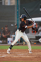 AZL Giants Black Grant McCray (40) at bat during an Arizona League game against the AZL Giants Orange on July 19, 2019 at the Giants Baseball Complex in Scottsdale, Arizona. The AZL Giants Black defeated the AZL Giants Orange 8-5. (Zachary Lucy/Four Seam Images)