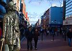 Statue of novelist James Joyce on Dublin's North Earl Street by sculptore Marjorie Fitzgibbon.