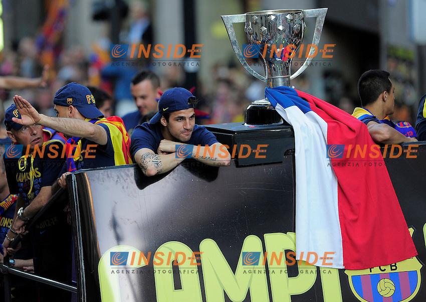 fabregas (fcb) .Football Calcio 2012/2013.La Liga.Barcellona Campione di Spagna Festeggiamenti.Foto Panoramic / Insidefoto .ITALY ONLY