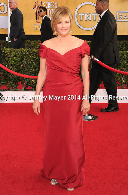 LOS ANGELES, CA- JANUARY 18: Actress JoBeth Williams  arrives at the 20th Annual Screen Actors Guild Awards at The Shrine Auditorium on January 18, 2014 in Los Angeles, California.
