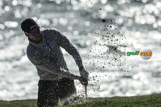 Rafa Cabrera Bello (ESP) during the final round of the AT&amp;T Pro-Am ,Pebble Beach Golf Links, Monterey, USA. 10/02/2019<br /> Picture: Golffile | Phil Inglis<br /> <br /> <br /> All photo usage must carry mandatory copyright credit (&copy; Golffile | Phil Inglis)