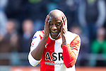 Nederland, Den Haag, 22 april 2012.Seizoen 2011/2012.Eredivisie.Ado Den Haag-Feyenoord.Guyon Fernandez van Feyenoord baalt