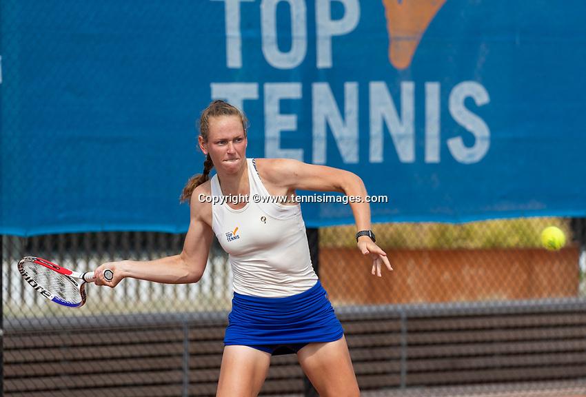 Amstelveen, Netherlands, 13 August 2020, NTC, National Tennis Center, KNLTB Wilcard Tournament,  Stéphanie Visscher (NED)<br /> Photo: Henk Koster/tennisimages.com