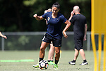 CARY, NC - JUNE 15: Debinha. The North Carolina Courage held a training session on June 15, 2017, at WakeMed Soccer Park Field 7 in Cary, NC.