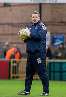 Luton Town Goalkeeping Coach Kevin Dearden during the Sky Bet League 2 match between Wycombe Wanderers and Luton Town at Adams Park, High Wycombe, England on 6 February 2016. Photo by Andy Rowland.