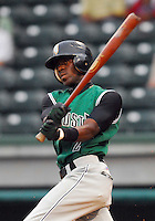 30 August 2007: Marcus Sanders of the Augusta GreenJackets, Class A South Atlantic League affiliate of the San Francisco Giants, in a game against the Greenville Drive at West End Field in Greenville, S.C. Photo by:  Tom Priddy/Four Seam Images