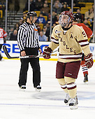 Barry Almeida (BC - 9) - The Boston College Eagles defeated the Northeastern University Huskies 7-1 in the opening round of the 2012 Beanpot on Monday, February 6, 2012, at TD Garden in Boston, Massachusetts.