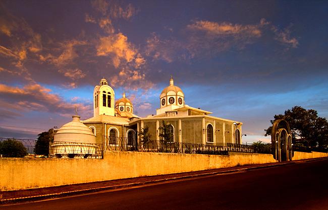 Costa Rica / Cartago / Basilica de Nuestra Senora de Los Angeles / Religious Center / Black Madonna / 'La Negrita' / Sunrise