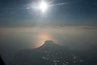 Daytime aerial view of Fuji San and Tokyo Bay in the Kanto and Chubu regions following the 311 Tohoku Tsunami near Tokyo, Japan  © LAN