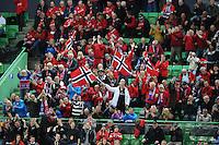 SCHAATSEN: HAMAR: Vikingskipet, 11-01-2014, Essent ISU European Championship Allround, Noorse schaatssupporters, ©foto Martin de Jong