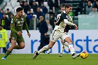 6th January 2020; Allianz Stadium, Turin, Italy; Serie A Football, Juventus versus Cagliari; Adrien Rabiot of Juventus breaks into attack <br />  - Editorial Use