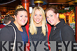 Pictured at Scruffys bar Killarney on New Year's Eve were l-r: Rebecca Luddy (Mallow, Cork) Robin Wallace (Mallow, Cork) Emer O'Sullivan (Mallow, Cork).