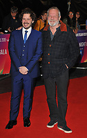 Edgar Wright and Terry Gilliam at the &quot;Widows&quot; opening film gala, 62nd BFI London Film Festival 2018, Cineworld Leicester Square, Leicester Square, London, England, UK, on Wednesday 10 October 2018.<br /> CAP/CAN<br /> &copy;CAN/Capital Pictures