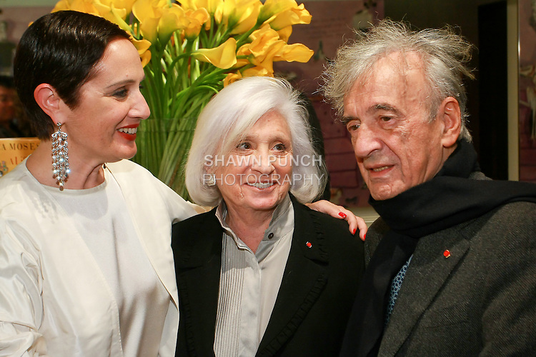 "Rebecca Moses, Marion Wiesel and Elie Wiesel at the Rebecca Moses ""A Life of Style"" book signing at Fratelli Rossetti Boutique, November 11, 2010."