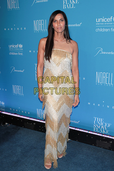 NEW YORK, NY - DECEMBER 1: Padma Lakshmi  at the 11th Annual UNICEF Snowflake Ball at Cipriani, Wall Street on December 1, 2015 in New York City.  <br /> CAP/MPI99<br /> &copy;MPI99/Capital Pictures
