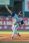 29 July 2016: Brooklyn Cyclones pitcher Merandy Gonzalez on the mound against the Vermont Lake Monsters at Centennial Field in Burlington, Vermont. The Lake Monsters fell to the Cyclones 8-5 in NY Penn League action. Mandatory Credit: Ed Wolfstein Photo *** RAW (NEF) Image File Available ***