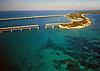 Aerial of Seven Mile Bridge Keys, Florida