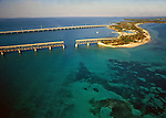 Aerial of Seven Mile Bridge Keys, Florida