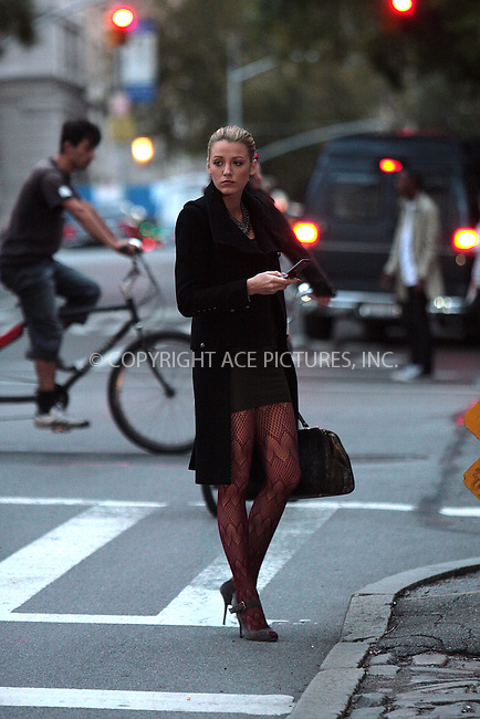 WWW.ACEPIXS.COM . . . . .  ....October 5 2009, New York City....Actress Blake Lively was on the Central Park set of the TV show 'Gossip Girl' on October 5 2009 in New York City....Please byline: AJ Sokalner - ACEPIXS.COM.... *** ***..Ace Pictures, Inc:  ..(212) 243-8787 or (646) 769 0430..e-mail: picturedesk@acepixs.com..web: http://www.acepixs.com