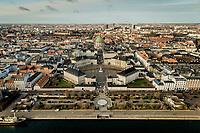 022 190110 Dronebilleder af Den lille  Havfrue, Kastellet, Amager Bakke, Papir&oslash;en, Skuespilhuset, Amalienborg og Inderhavnsbroen.<br /> Foto: Jens Panduro