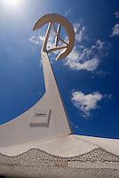 Torre de Telecomunicationes  auf dem Olympiagelände des Montjuic, erbaut von Santiago Calatrava, Barcelona, Spanien