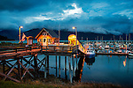 Main dock in Haines Alaska at night