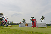 Lloyd Jefferson GO (PHI) watches his tee shot on 8 during Rd 4 of the Asia-Pacific Amateur Championship, Sentosa Golf Club, Singapore. 10/7/2018.<br /> Picture: Golffile | Ken Murray<br /> <br /> <br /> All photo usage must carry mandatory copyright credit (&copy; Golffile | Ken Murray)