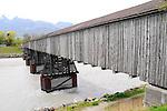 Alte Holz-Rheinbruecke in Vaduz. Foto: Paul Trummer/Mauren