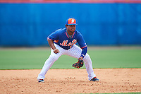 New York Mets third baseman Jhoan Urena (13) during an Instructional League game against the Miami Marlins on September 29, 2016 at the Port St. Lucie Training Complex in Port St. Lucie, Florida.  (Mike Janes/Four Seam Images)