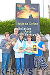 Fe?ile na Gre?ine - some of the organizers of the festival who have put a huge amount of work into bringing this festival to Waterville, were front l-r, Diarmuid O'Keeffe, Peter Cooke, Fi?ona de Buis, Bernadette Kennedy & Angela O'Sullivan.