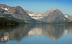 Swiftcurrent Lake, Glacier National Park from Many Glacier Lodge.