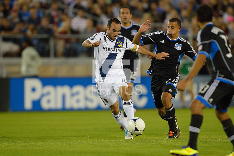 STANFORD, CA - June 30, 2012: The San Jose Earthquakes defeated the LA Galaxy, 4-3, in front of a sell-out crowd of 50,391 at Stanford Stadium on Saturday, June 30, 2012.