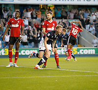 GOAL - Millwall's Aiden O'Brien celebrates his goal during the Sky Bet Championship match between Millwall and Ipswich Town at The Den, London, England on 15 August 2017. Photo by Carlton Myrie.