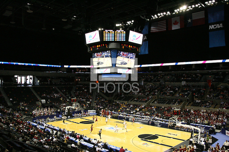 25 March 2006: The arena during Stanford's 88-74 win over the Oklahoma Sooners during the NCAA Women's Basketball tournament in San Antonio, TX.