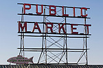 For over a century a century, the Pike Place Market, has become a city institution and a national attraction, bringing in over a million tourists a year. .Jim Bryant Photo. ©2010. ALL RIGHTS RESERVED.