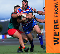 Leon Ellison in action during the 2018 Heartland Championship Lochore Cup rugby final between Horowhenua Kapiti and Wairarapa Bush at Levin Domain in Levin, New Zealand on Sunday, 28 October 2018. Photo: Dave Lintott / lintottphoto.co.nz