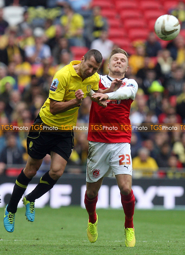 David Ball of Fleetwood Town and Phil Edwards of Burton Albion - Burton Albion vs Fleetwood Town, Sky Bet Play Offs - League Two play off final Wembley Stadium - 26/05/14 - MANDATORY CREDIT: Dave Simpson/TGSPHOTO - Self billing applies where appropriate - 0845 094 6026 - contact@tgsphoto.co.uk - NO UNPAID USE