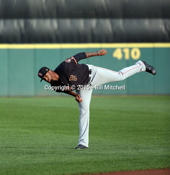 Domingo Santana -2015 Fresno Grizzlies (Bill Mitchell)