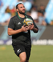 PRETORIA, SOUTH AFRICA - OCTOBER 06: Tim Perry of the New Zealand All Blacks during the Rugby Championship match between South Africa Springboks and New Zealand All Blacks at Loftus Versfeld Stadium. on October 6, 2018 in Pretoria, South Africa. Photo: Steve Haag / stevehaagsports.com