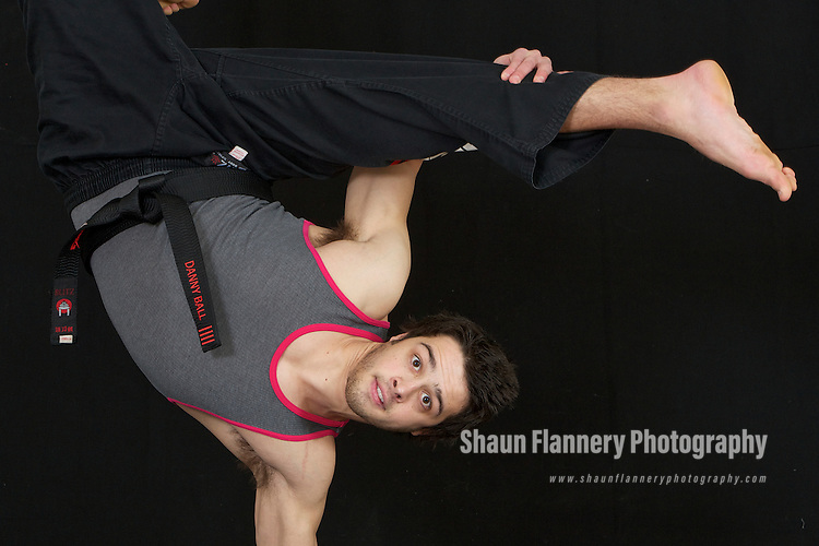 Pix: Shaun Flannery/shaunflanneryphotography.com...COPYRIGHT PICTURE>>SHAUN FLANNERY>01302-570814>>07778315553>>..18th February 2010..........Doncaster Dome Fitness Village, advertising campaign..Martial Artist Danny Ball of Strike.