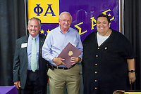 On March 7, 2016 the California Epsilon Chapter of Sigma Alpha Epsilon celebrated the 85th anniversary of its chartering at Occidental. For the last 85 years California Epsilon has been an integral part of the Oxy community, producing college leaders from ASOC presidents to Board of Trustee members. As the oldest fraternity on campus, and one of the longest-running chapters in the state of California, Cal Epsilon has much for which to be proud. SAE alumni celebrate the impressive legacy and promising future of SAE at this anniversary celebration. Occidental College alumni meet again and celebrate during Alumni Reunion Weekend, June 11, 2016.<br /> (Photo by Don Milici, Freelance Photographer)