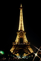 FILE PHOTO  - the eiffel tower in Paris, France, at night<br /> <br /> <br /> Photo : Agence Quebec Presse