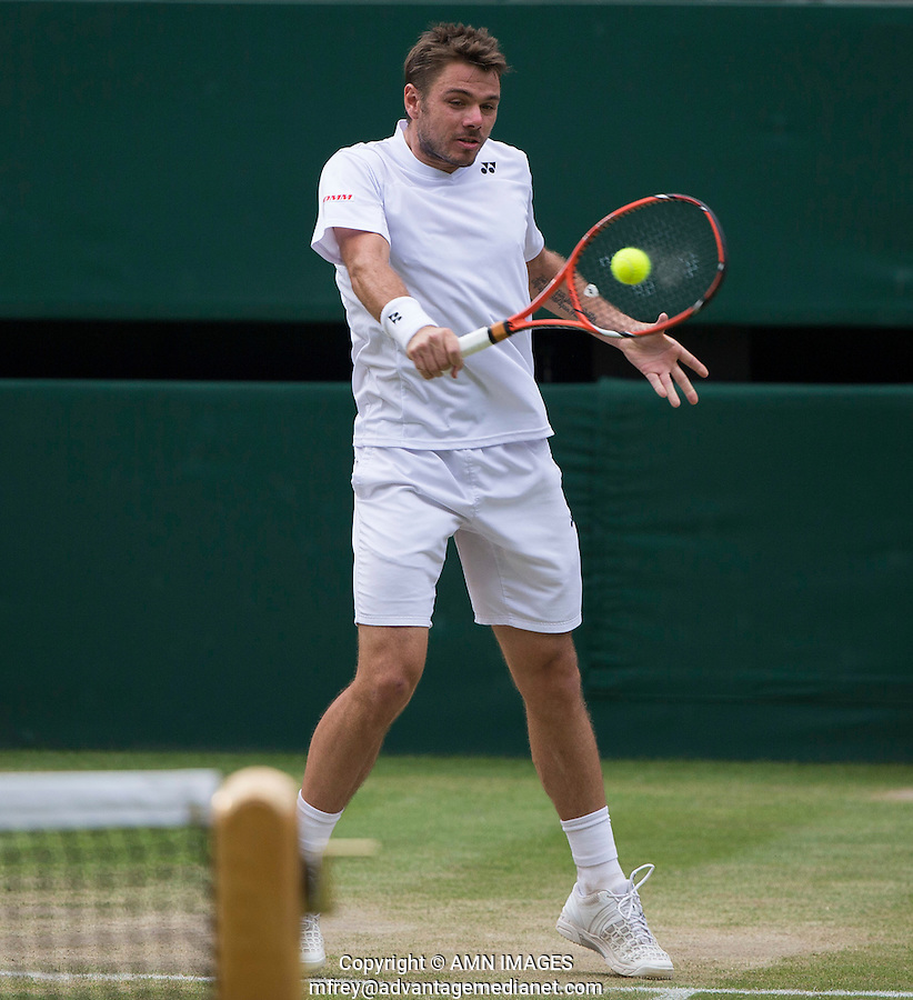 STAN WAWRINKA (SUI)<br /> <br /> The Championships Wimbledon 2014 - The All England Lawn Tennis Club -  London - UK -  ATP - ITF - WTA-2014  - Grand Slam - Great Britain -  2nd July 2014. <br /> <br /> &copy; AMN IMAGES